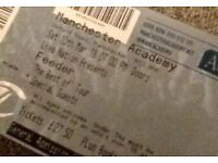 FEEDER Concert Tickets x2 Saturday 10th March Manchester