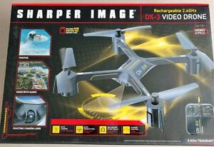Sharper Image DX-3 Remote Controlled Drone with Video