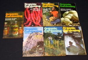 Vintage 1978 Organic Gardening and Farming magazines