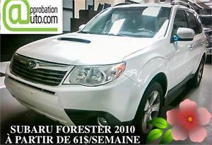 2010 Subaru Forester X Sport, À PARTIR DE 61$/SEMAINE 100% APPR.