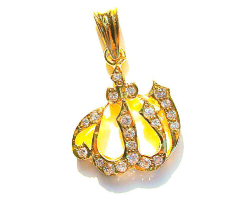 Pendant: ALLAH -Sterling Silver w/Gold -Islamic Gift/Jewelry - Graduation