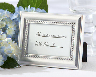 60 Silver Beautifully Beaded Place Card Holder Photo Frame Wedding Favors