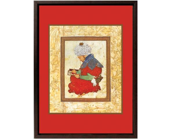 Framed Canvas: Painter from Turkey.-12x15 -Mughal Art -Islamic Art/Decor/Print