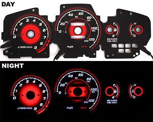 92-95-EG-Honda-Civic-EX-Si-RED-Reverse-Glow-Gauge-Type-R-BLACK-MT