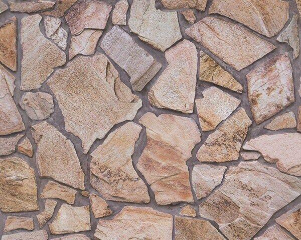 Vlies Tapete Wood´n Stone 9273-16 beige braun grau Stein Steinwand Bruchstein