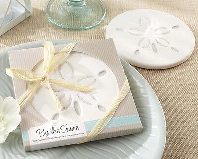 50 Beach Summer Sand Dollar Coaster Bridal Wedding Favors in Gift - Cheap Wedding Favors In Bulk