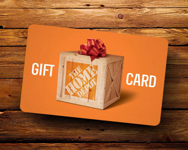 HOME DEPOT GIFT CARD 100.00 Card Value FREE SHIPPING  - $94.99