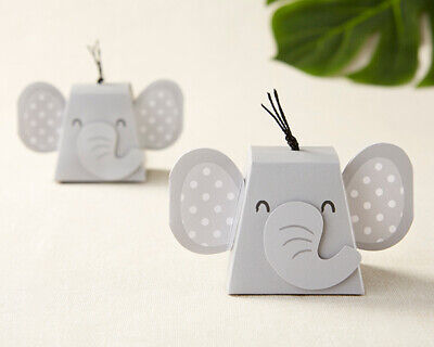 12 Grey Elephant Candy Boxes Baby Shower Party Favors Decorations MW36800 - Baby Elephant Decorations