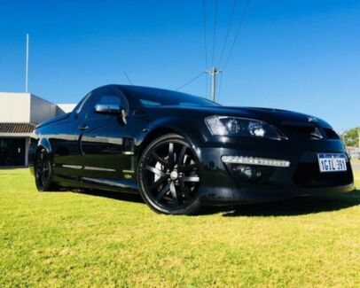 2010 Holden Special Vehicles Maloo E2 Series GXP Black 6 Speed Manual Utility Maddington Gosnells Area Preview