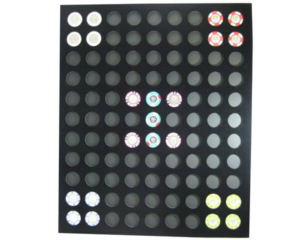 Chip Insert 99 Casino Chips Display Board 20 x 24 HOLDS 99 Favorite Chips *