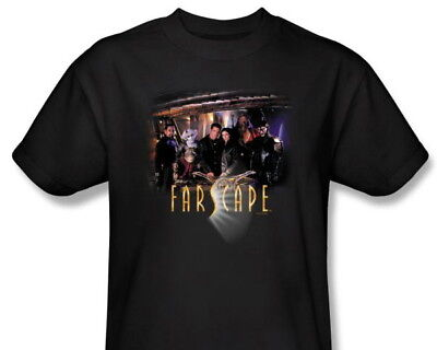 Farscape TV Series Complete Main Cast Black T-Shirt, NEW UNWORN