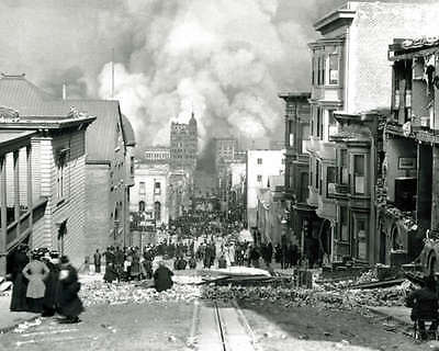 1906 SAN FRANCISCO EARTHQUAKE 8X10 PHOTO ARNOLD GENTHE