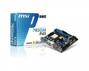 MSI 785GM-P45 Socket AM3 DDR3 Micro ATX Motherboard