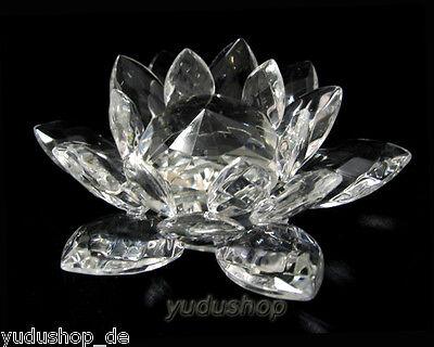 Seerose aus Kristallglas Dekolas Briefbeschwerer