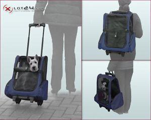 Hundetrolley Transporttasche Tragetasche Rucksack Trolley Hund Katze XL Blau