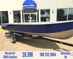 16FT MIRROCRAFT 3696 CANADIAN FISHING BOAT PACKAGE *SALE*