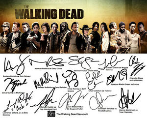 Details about daryl dixon rick walking dead season 5 full cast signed