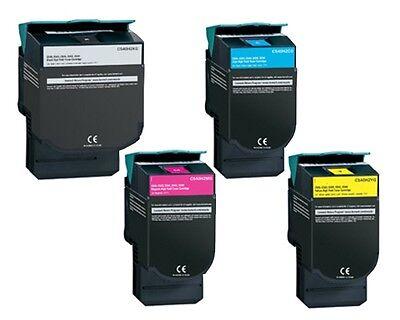 4 HY Color Toner Cartridges for Lexmark C544 dw C544 n C546 dtn X543 dn X544 -
