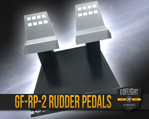 GO FLIGHT GF-RP-2 Rudder Pedals FOR FSX / P3D / XPLANE