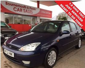 FORD FOCUS 1.8 GHIA TDCI 5d 100 BHP DIESEL CAMBELT REPLACED A (blue) 2002