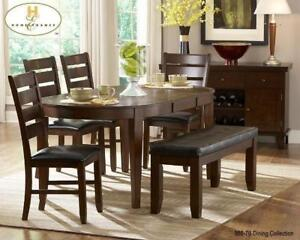 ROUND EXTENDABLE DINING TABLE - VISIT WWW.KITCHENANDCOUCH.COM (BD-1205)