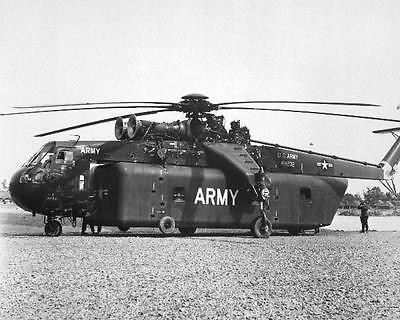 SKY CRANE CH-54A ARMY HELICOPTER 8X10 PHOTO VIETNAM - Sky Crane