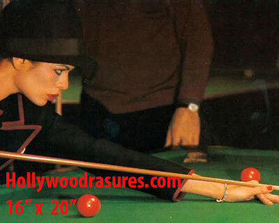 "Bianca Jagger~Playing Pool~Billiards~Shooting Pool~Poster~Photo~ 16"" x  20"""
