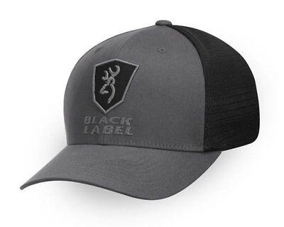 Browning Black Hat (Browning NWT Black Label Alfa Flex Fit Meshback Buckmark Hat Cap Size S/M & L/XL)