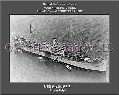 - USS Arctic AF 7 Personalized Canvas Ship Photo Print Navy Veteran Gift