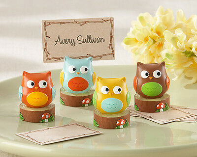 Whooo's the Cutest Baby Owl Place Card Holder Wedding Baby Shower Favor SET OF - The Place Card