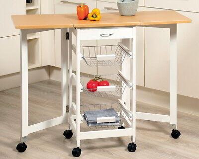 KESPER Küchenwagen Servierwagen Teewagen Bestellwagen Küchentrolley Rolltisch - Weiße Küche, Trolley