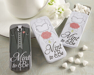 Mint To Be Favors (12 Mint to Be Bride Slide Mint Tins with Heart Mints Bridal Shower)