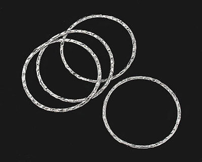 Tribe Silver 30mm - Karen Hill Tribe Silver 4 Hammered Jump Rings 30 mm.