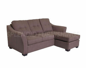 Modern, Elegantly Designed Fabric Sectional W/ Reversible Chaise
