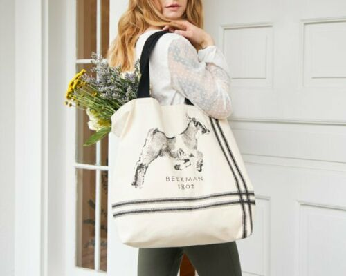 BEEKMAN 1802 Baby Goat LARGE TOTE Bag DOUBLE SIDED  Free Ship