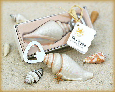 55 Sea Shell Bottle Openers Beach theme wedding favors bridal shower - Beach Theme Favors