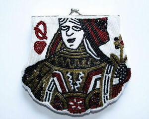 Clutch purse, Queen of Hearts (brand new)