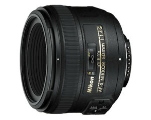 Nikon AF-S 50mm f/1.4G, Like New