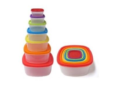 NEW Always Fresh Plastic Food Containers Fiesta Edition Squa