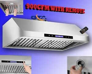 900 CFM RANGE HOOD KITCHEN EXHAUST FAN WITH REMOTE $999 only
