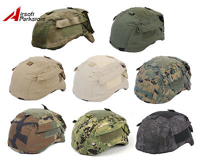 Tactical Military Airsoft Hunting Camo Helmet Cover for MICH TC-2001 ACH Helmet ()