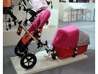 Bugaboo Cameleon Orange base and all accessories