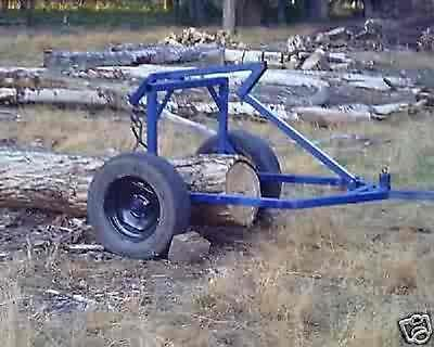 Plans For A Log Archskidding Cart For Atv 4 Wheeler Small Tractor