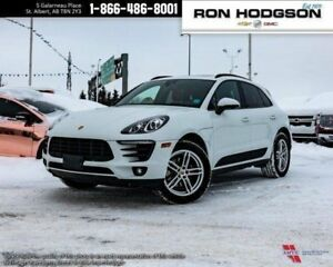 2017 Porsche Macan AWD LOW KM CLEAN UNIT LOADED WHITE ON RED