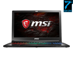 MSI Thin Notebook Computer with 15.6-inch 1080 screen, i7-7700HQ
