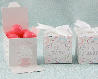 It's a Girl Baby Gender Reveal Favor Boxes - Set of 12 Boxes  - FREE SHIP (#1241](Gender Reveal Boxes)