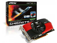 Nvidia/MSI GTS 450 Graphics Card / PC DVI (2) HDMI (1) FULLY WORKING