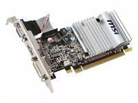 1 GB ALMOST NEW. AMD RADEON HD 5450 MSI OC VERSION SILENT EDITION . 3 RANFORD ROAD MANCHESTER M192QN