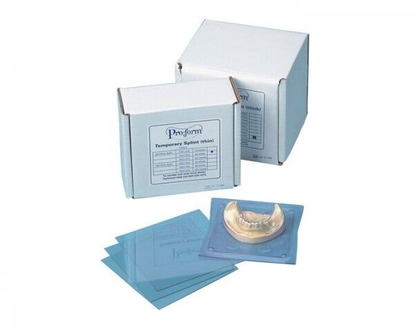 "KEYSTONE PROFORM .030"" RETAINER MATERIAL. STIFF CLEAR. 5"" X 5"" SHEETS BOX 50"