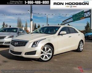 2014 Cadillac ATS AWD HTD SEATS SUNROOF BOSE WHITE DIAMOND LOW K